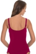 Profile by Gottex Cranberry Waterfall Shirred Tankini Top
