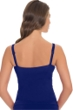 Profile by Gottex Blueberry Waterfall D-Cup Underwire V-Neck Tankini Top