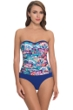 Profile by Gottex Madame Butterfly Bandeau One Piece Swimsuit