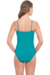 Profile by Gottex Peacock Swan Lake Shirred Bandeau One Piece Swimsuit