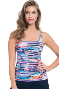Profile by Gottex Venice Beach Shirred Tankini Top
