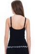 Profile by Gottex Indigo Girl Black Scoop Neck Tankini Top
