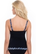 Profile by Gottex Indigo Girl Black D-Cup Underwire Tankini Top