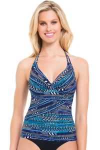 Profile by Gottex Blue Nile Underwire Tankini Top