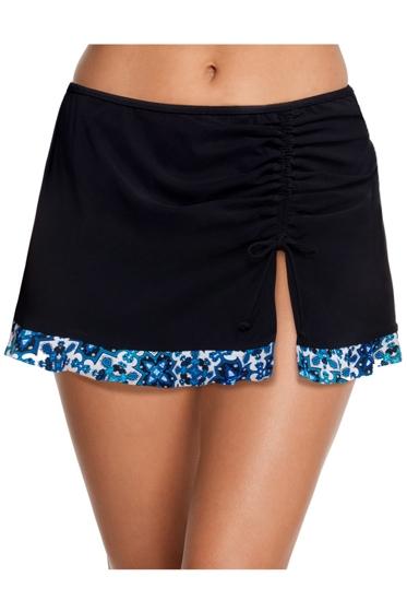 Profile by Gottex Collage Black Cinch Skirt Tankini Bottom