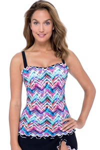 Profile by Gottex Fantasia Underwire E-Cup Tankini Top