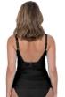 Profile by Gottex Tutti Frutti Black Round Neck Shirred Tankini Top