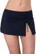 Profile by Gottex Tutti Frutti Black Side Slit Cinch Swim Skirt