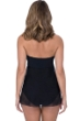 Profile by Gottex Tutti Frutti Black Twist Front Bandeau Strapless Flyaway One Piece Swimsuit