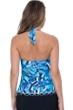 Profile by Gottex Tidal Wave V-Neck Halter Tankini Top