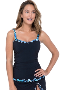 Profile by Gottex Tidal Wave D-Cup Scoop Neck Underwire Tankini Top