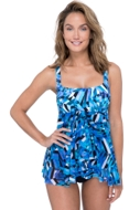 Profile by Gottex Tidal Wave Scoop Neck Flyaway One Piece Swimsuit
