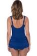 Profile by Gottex Folklore Petrol Blue Macrame V-Neck Swimdress