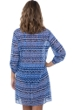 Profile by Gottex Folklore V-Neck Button Up Long Sleeve Mesh Tunic Cover Up