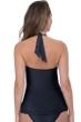Profile by Gottex Ribbons Black V-Neck Halter Tankini Top