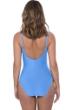 Profile by Gottex Ribbons Bondi Blue V-Neck Lingerie Surplice One Piece Swimsuit