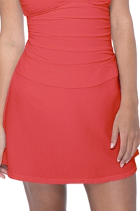 Profile by Gottex Ribbons Coral Textured Cover Up Skirt