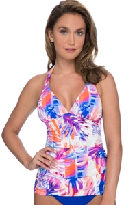Profile by Gottex Sanibel V-Neck Halter Tankini Top