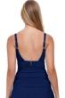 Profile by Gottex Tutti Frutti Navy Scoop Neck Shirred Tankini Top