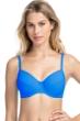 Profile by Gottex Tutti Frutti Blue D-Cup Tie Front Push Up Underwire Bikini Top
