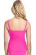 Profile by Gottex Tutti Frutti Pink G-Cup Scoop Neck Shirred Underwire Tankini Top