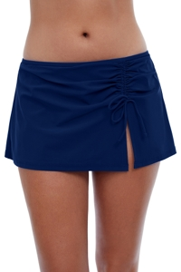 Profile by Gottex Tutti Frutti Navy Side Slit Cinch Swim Skirt