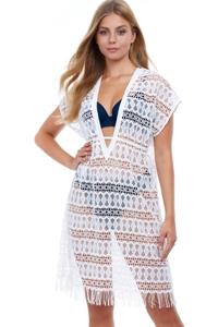 Profile by Gottex Tutti Frutti White Crochet Dress