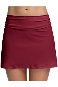Profile by Gottex Tutti Frutti Merlot Cover Up Skirt