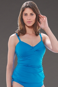 Fantasie China Blue Versailles H-Cup Twist Front Underwire Side Adjustable Tankini Top
