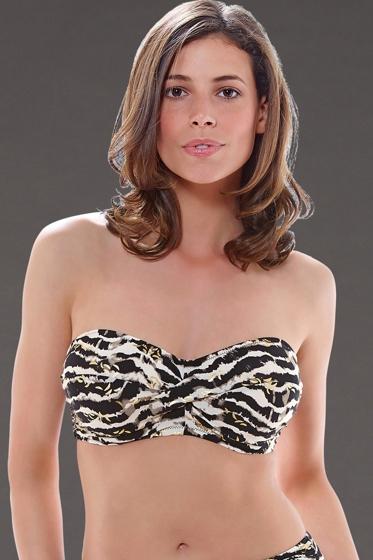 Fantasie Milos D-Cup Twist Bandeau Underwire Bikini Top