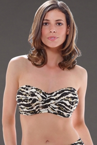 Fantasie Milos H-Cup Twist Bandeau Underwire Bikini Top
