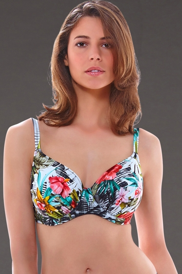 Fantasie Wakaya I-Cup Gathered Full Cup Underwire Bikini Top