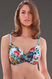 Fantasie Wakaya L-Cup Gathered Full Cup Underwire Bikini Top