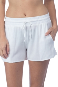 Green Dragon White Drawstring Beach Short