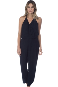 Green Dragon Black Halter Jumpsuit