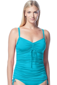 Beach House Pool Taylor Ruched Sweetheart Tankini Top