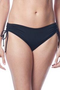 Beach House Black Hayden Adjustable Side Tie Brief
