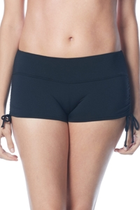 Beach House Black Blake Adjustable Side Tie Swim Short