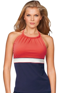 Beach House Admiral Palm Beach Blair High Neck Tankini Top