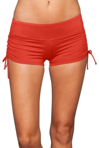 Beach House Tiki Coral Side Tie Swim Short