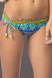 Hobie Seam Weaver Adjustable Side Tie Hipster Bikini Bottom