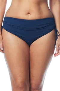 Beach House Navy Plus Size Hayden Adjustable Side Tie Brief