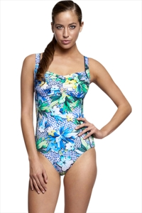 Jets Australia Sublime Zest DD-Cup Gathered One Piece Swimsuit