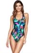 Jets by Jessika Allen Sportopia Scoop Neck Tank One Piece Swimsuit