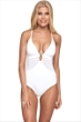 JETS Australia Parallels Sheer Panelled Plunge One Piece Swimsuit