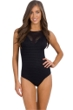 JETS Australia Parallels DD/E Sheer Panelled High Neck One Piece Swimsuit
