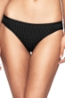 Jets by Jessika Allen Evoke Solid Black Textured Moderate Hipster Bikini Bottom
