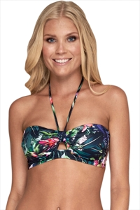 JETS Australia Arcadia Halter Tie Bandeau Bikini Top