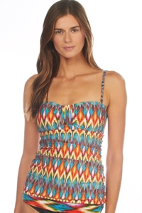 Kenneth Cole Upon The Horizon Bandeau Tankini Top