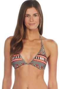 Kenneth Cole Tribal Beat Reversible Triangle Bikini Top